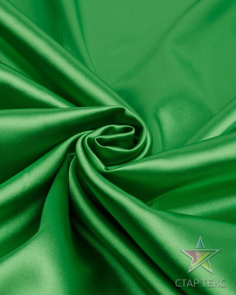 Ткань Атлас Королевский (стрейч плотный) Трава