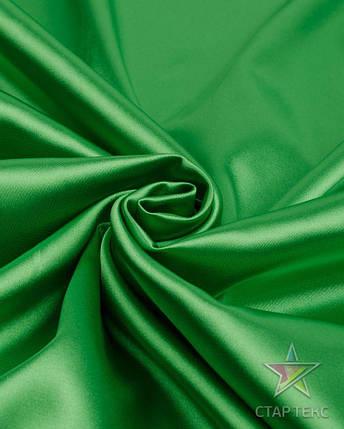 Ткань Атлас Королевский (стрейч плотный) Трава, фото 2