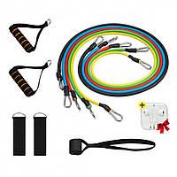 Эспандер для фитнеса / Резинки для тренировок / Набор - Комплект из 5 штук + Наушники Apple в Подарок