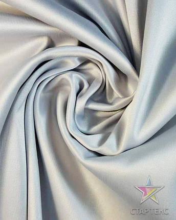 Ткань Атлас Королевский (стрейч плотный) Светло-серый, фото 2