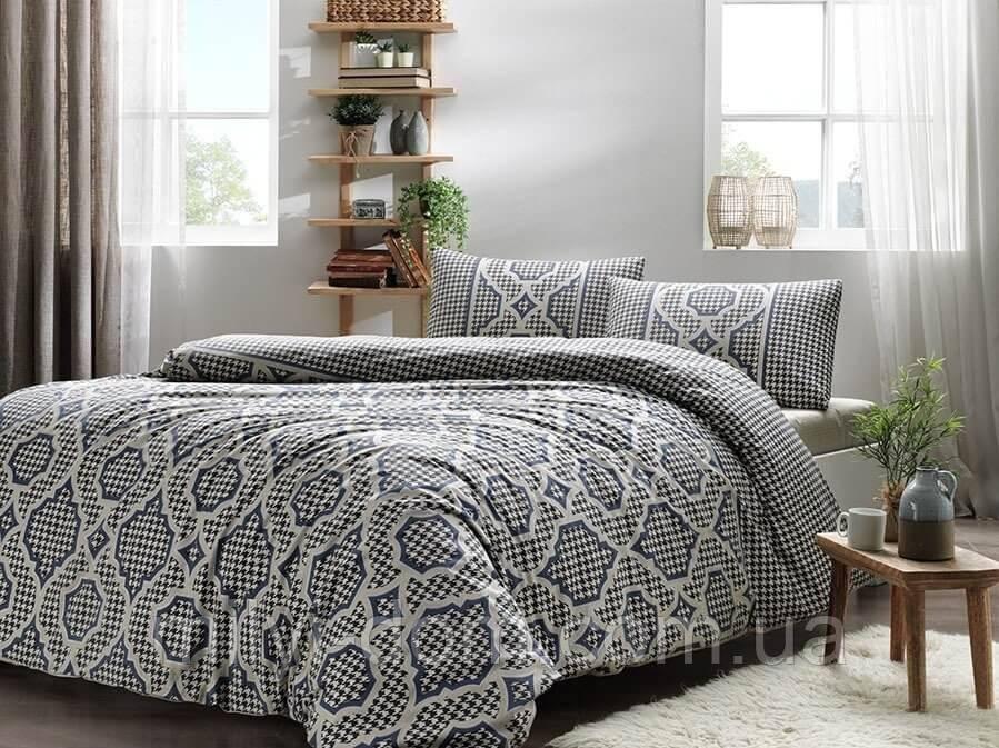Набор постельного белья TAC Evana Blue (двуспальный евро)