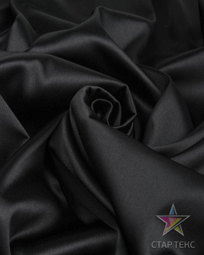 Ткань Атлас Королевский (стрейч плотный) Черный