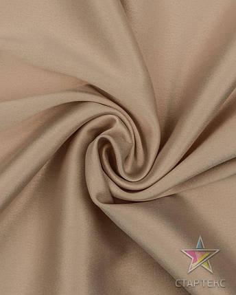 Ткань Атлас Королевский (стрейч плотный) Бежевый, фото 2