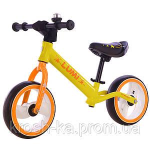 Беговел Balance Tilly 12* Lumi светящиеся колёса жёлтый Tilly Китай T-212521