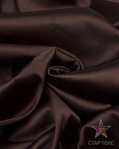 Ткань Атлас Королевский (стрейч плотный) Шоколад