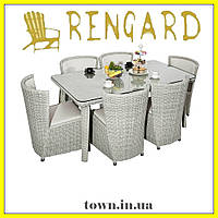 Обеденный стекляный стол IMPERIAL RGLT 1007-1. Стол для улицы,для террасы,для дома,для кухни, фото 1