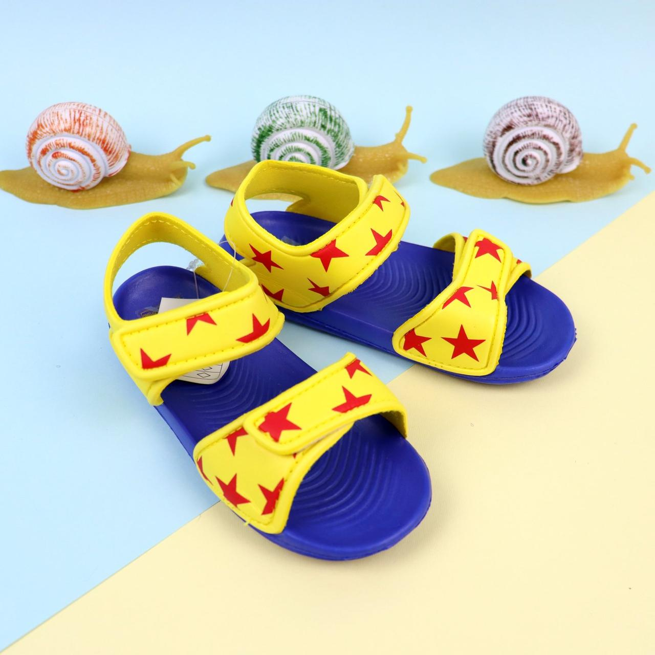 Сандалии пляжные для мальчика Звезды  желтые тм GIOLAN размер 29,30,31,32,34,35