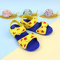 Сандалии пляжные для мальчика Звезды  желтые тм GIOLAN размер 20,21,23,24,25,27, 29,30,31,32,33,34,35