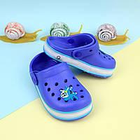 Синие кроксы для мальчика с led подсветкой тм GIOLAN размер 20,21,24,29,30,31,32,33,34,35, фото 1