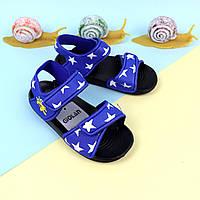 Сандалии пляжные для мальчика Звезды на липучке синие тм GIOLAN размер 20,21,23,25,27, 30,31,32,33,34,35