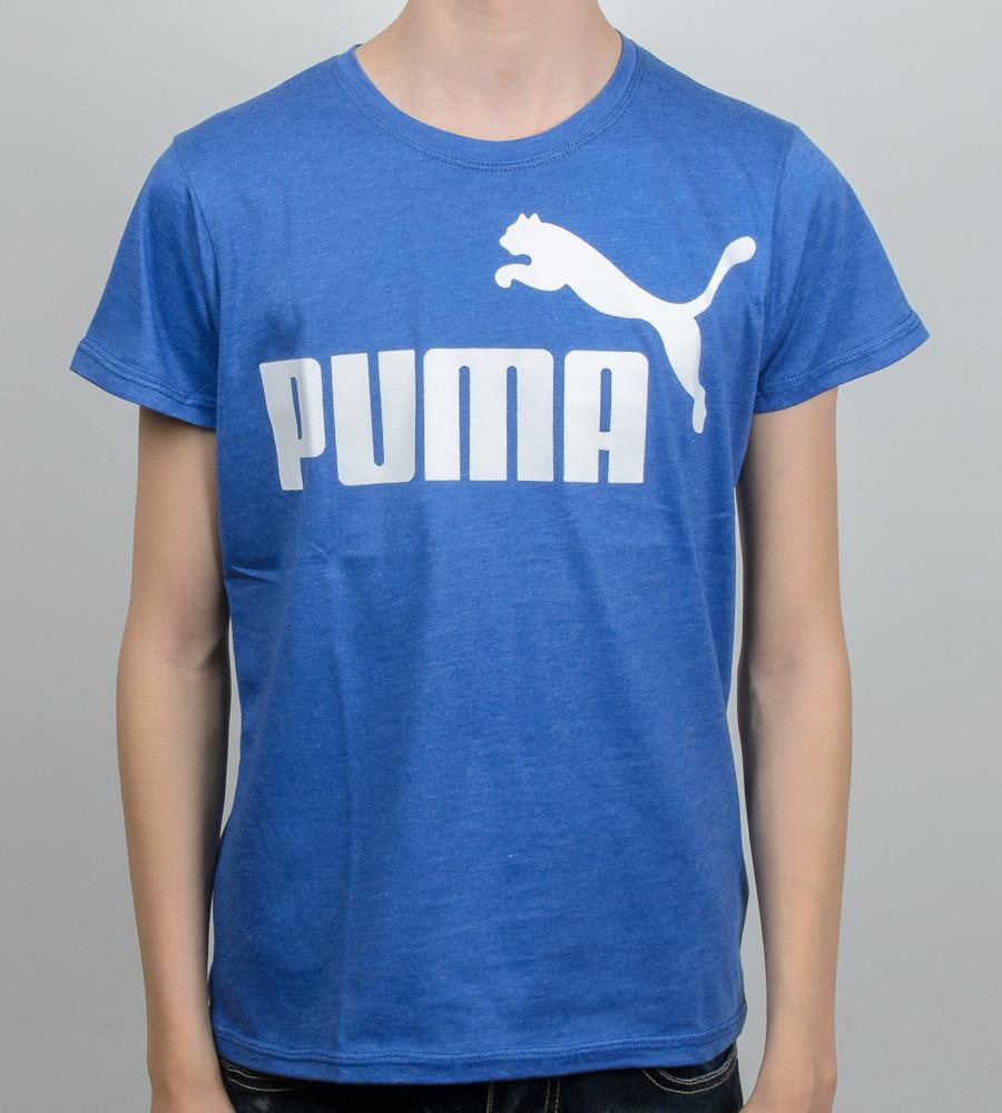 Футболка підліткова меланж PUMA (2015п), Електрик