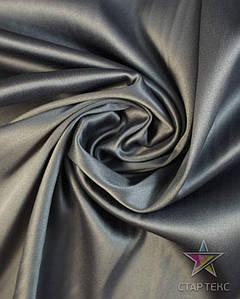 Ткань Атлас Королевский (стрейч плотный) Cерый