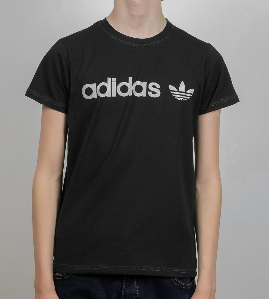 Футболка подростковая Adidas (2017п), Черный