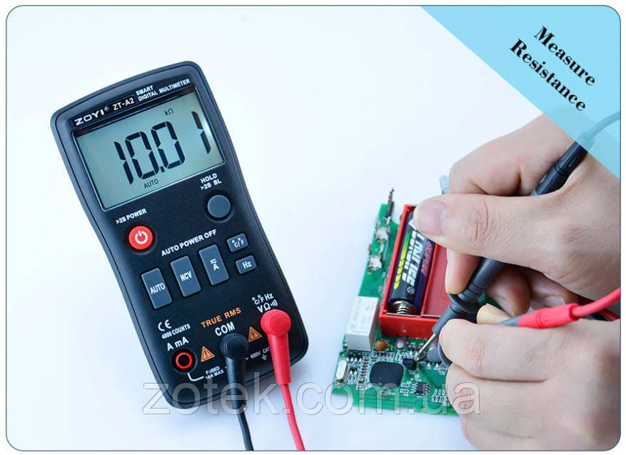 ZOYI ZT-A2 Автоматический цифровой мультиметр с детектором скрытой проводки True RMS ZOTEK