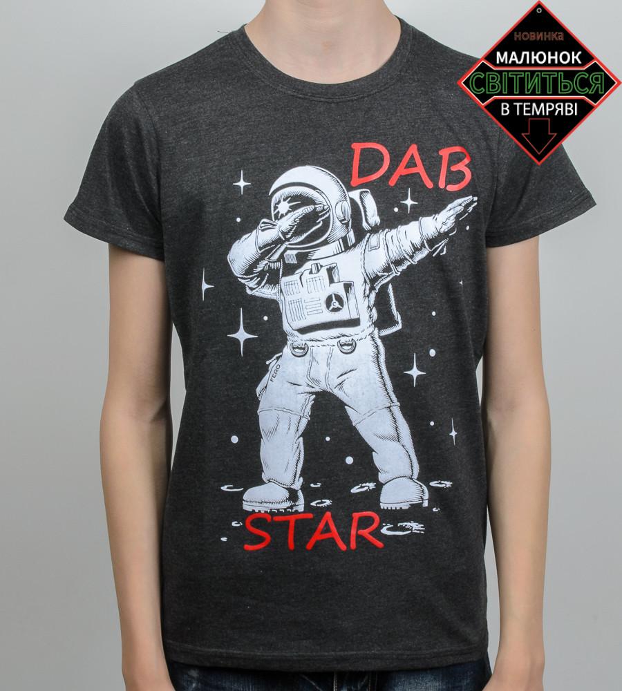 Футболка підліткова меланж DAB Star (2061п), Т. Сірий