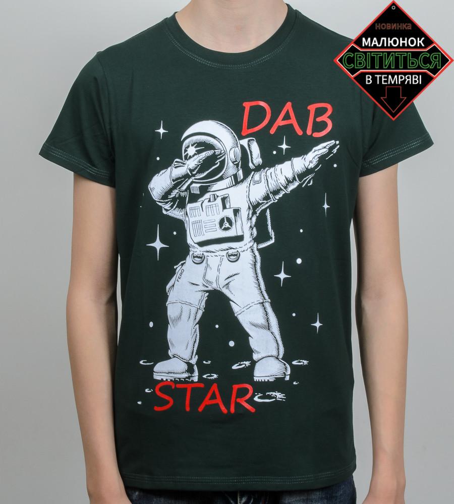 "Футболка подростковая ""DAB Star"" (2061п) , Т.Зеленый"