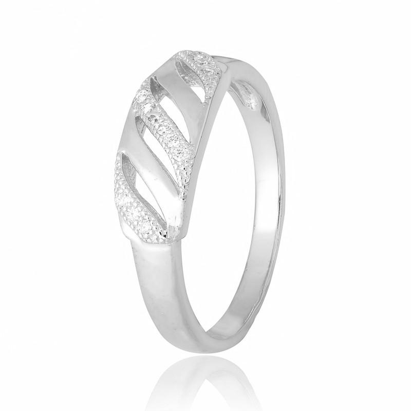 Серебряное кольцо с фианитом КК2Ф/229 - 18