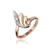 Серебряное кольцо GS  позолоченное с фианитом КК3Ф/009 - 16,8