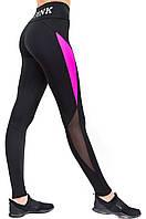 Утягивающие леггинсы для фитнеса с высокой талией, женские спортивные лосины леггинсы Pink Valeri 1215.1