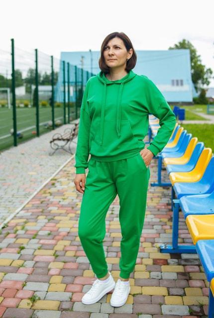 """Жіночий спортивний костюм """"Eliza"""" зелений"""