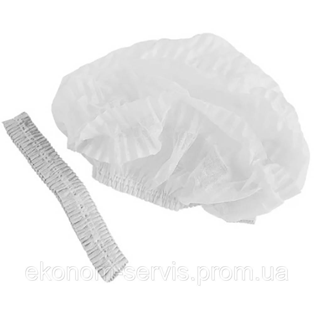 Шапочки одноразовые для косметологических процедур Sanador №2 спанбонд (100шт./уп.), белая