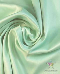 Ткань Атлас Королевский (стрейч плотный) Зеленая мята