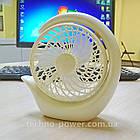 Настольный мини вентилятор портативный DianDi Circle Вентилятор аккумуляторный 2 скорости, фото 10