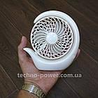 Вентилятор портативный DianDi Circle настольный. Вентилятор аккумуляторный 2 скорости, фото 3