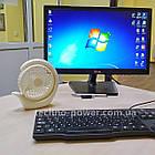 Вентилятор портативный DianDi Circle настольный. Вентилятор аккумуляторный 2 скорости, фото 2