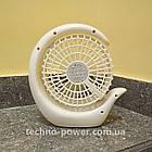Вентилятор портативный DianDi Circle настольный. Вентилятор аккумуляторный 2 скорости, фото 9