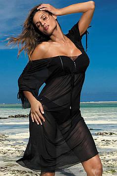 Довге пляжне плаття M 443 DORA (розміри S-2XL в кольорах)