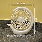 Настольный мини вентилятор портативный DianDi Circle Вентилятор аккумуляторный 2 скорости, фото 8