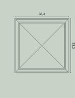 W123 3D панель для стены 33,3 x 3,5 x 33,3 см Orac Decor