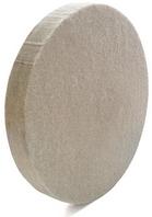 Круг войлочный белый фетр 250 мм h=40мм (Вознесенск) полировальный тонкошерстный точильный, шлифовальный