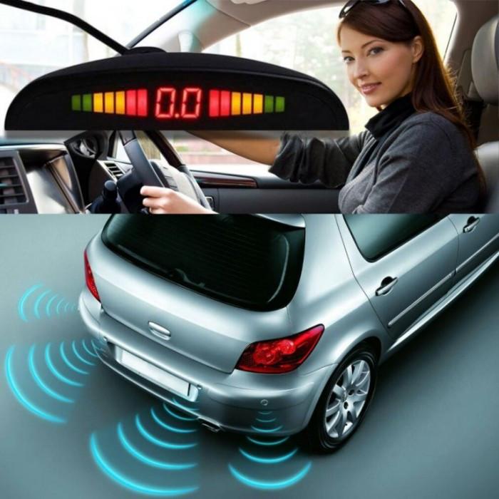 Парктроник автомобильный UKC на 8 датчиков + LCD монитор (черные датчиНет в наличии