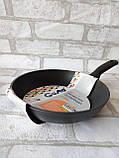 Сковорода чорна універсальна Gusto GT-2102 d-24 305 грн, фото 4