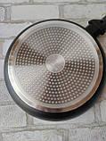 Сковорода чорна універсальна Gusto GT-2102 d-24 305 грн, фото 2