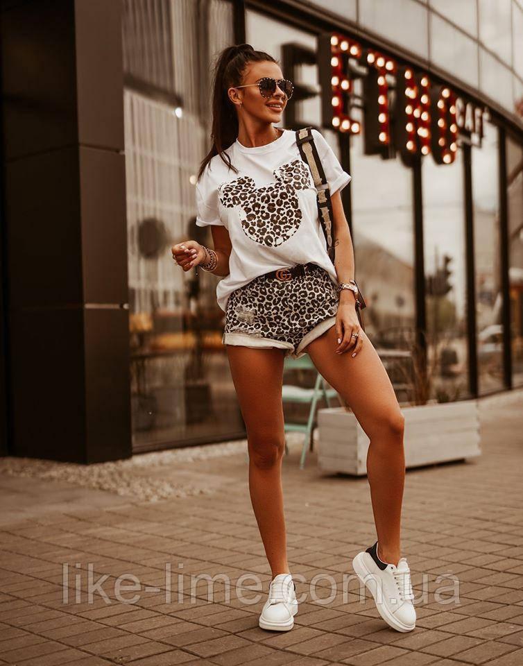 Женская стильная футболка, летняя футболка