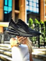 Женские Кроссовки Nike Air Max 270 Black(AAA+) 36-37-38-39-40-41