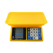 Весы торговые электронные аккумуляторные до 40 кг Domotec ACS MS-266 4V 40kg/5g ZV