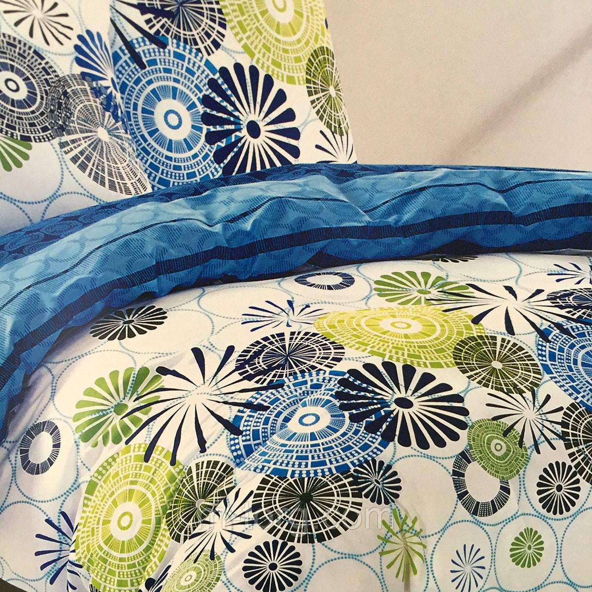"""""""Кружочки"""" Семейный комплект постельного белья Elway Premium,ткань сатин 100% хлопок"""