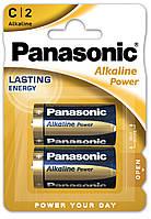 Лужні батарейки Panasonic Alkaline Power LR14APB/2BP C/R14 блістер 2 шт.