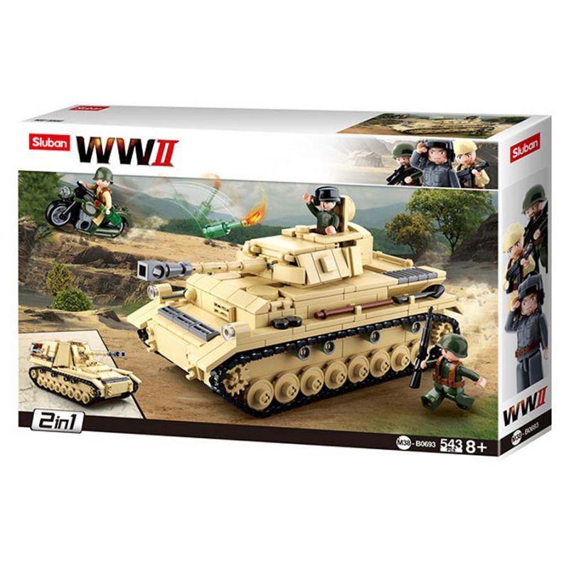 """Конструктор Sluban M38-B0693 """"Немецкий средний танк Panzer IV 2в1"""" 543 дет"""