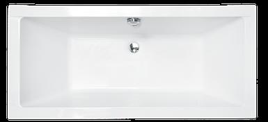 Ванна Besco QUADRO 175*80 (без панельки, ніжок)