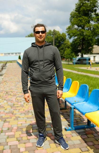 Мужской трикотажный спортивный костюм Markin темно-серый меланж (492)