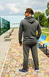Мужской трикотажный спортивный костюм Markin темно-серый меланж (492), фото 2