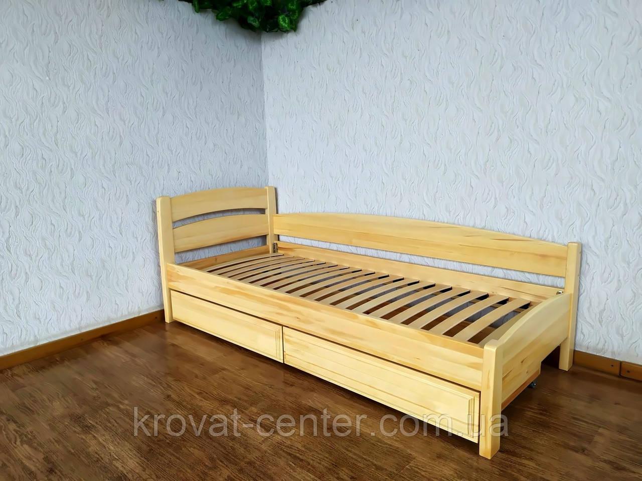 """Кровать детская угловая с выдвижными ящиками из массива дерева """"Марта - 2"""" от производителя"""