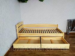 """Кровать детская угловая с выдвижными ящиками из массива дерева """"Марта - 2"""" от производителя, фото 3"""