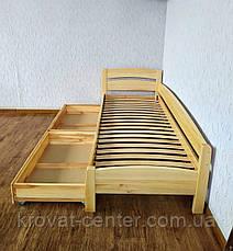 """Кровать детская угловая с выдвижными ящиками из массива дерева """"Марта - 2"""" от производителя, фото 2"""