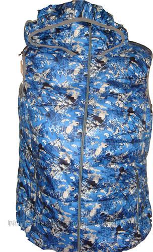 Женская жилетка капюшон